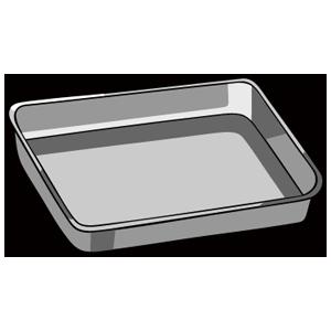 金属のキッチントレー